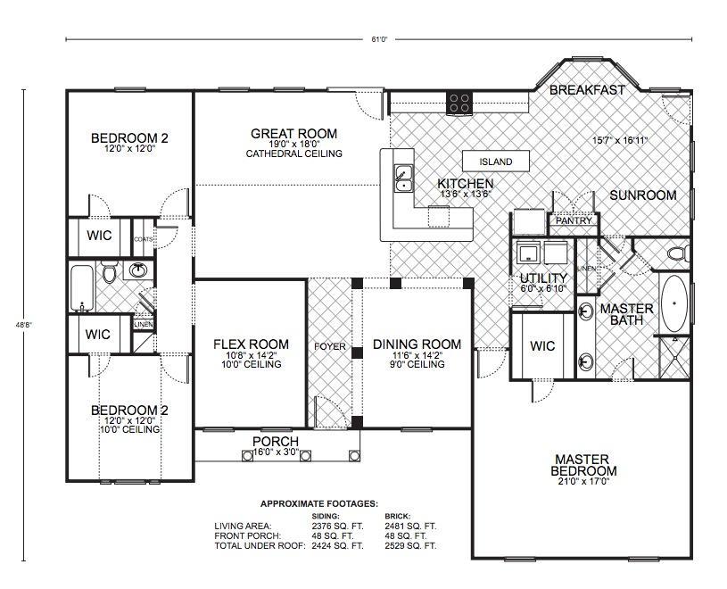 Amarillo b floor plans southwest homes for Southwest homes floor plans