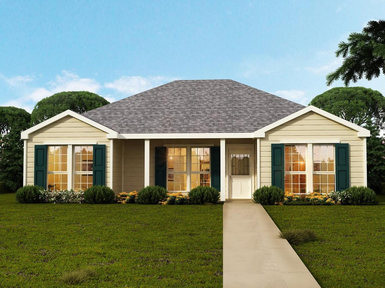 Woodcrest floor plans southwest homes for Southwest style house plans