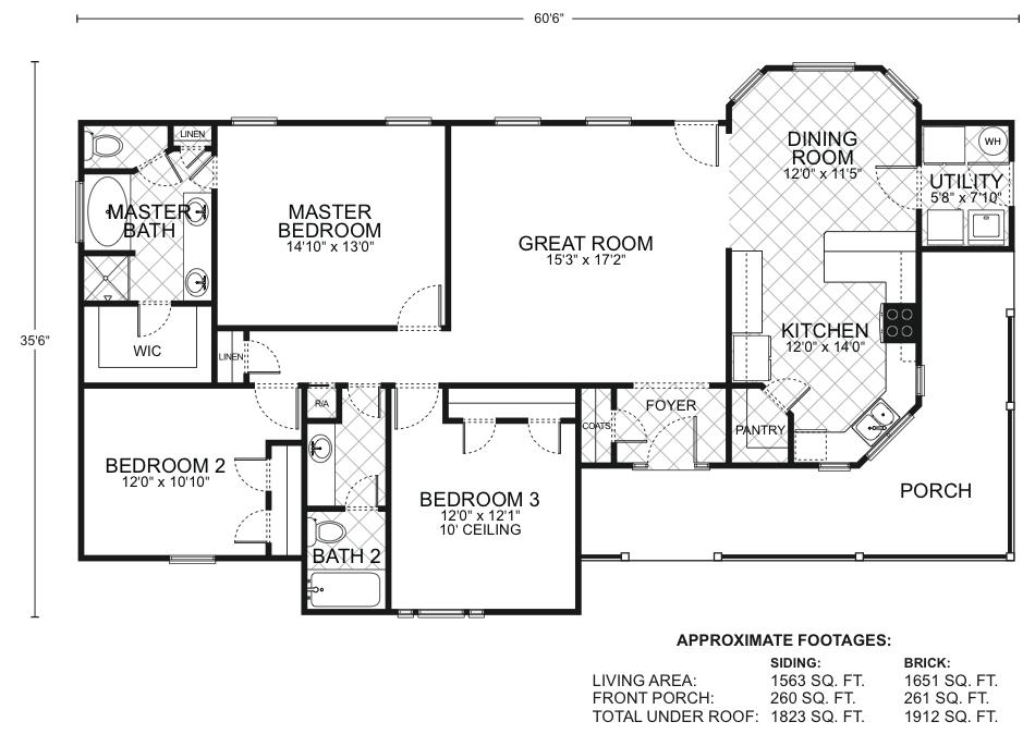 San antonio floor plans southwest homes for House plans san antonio