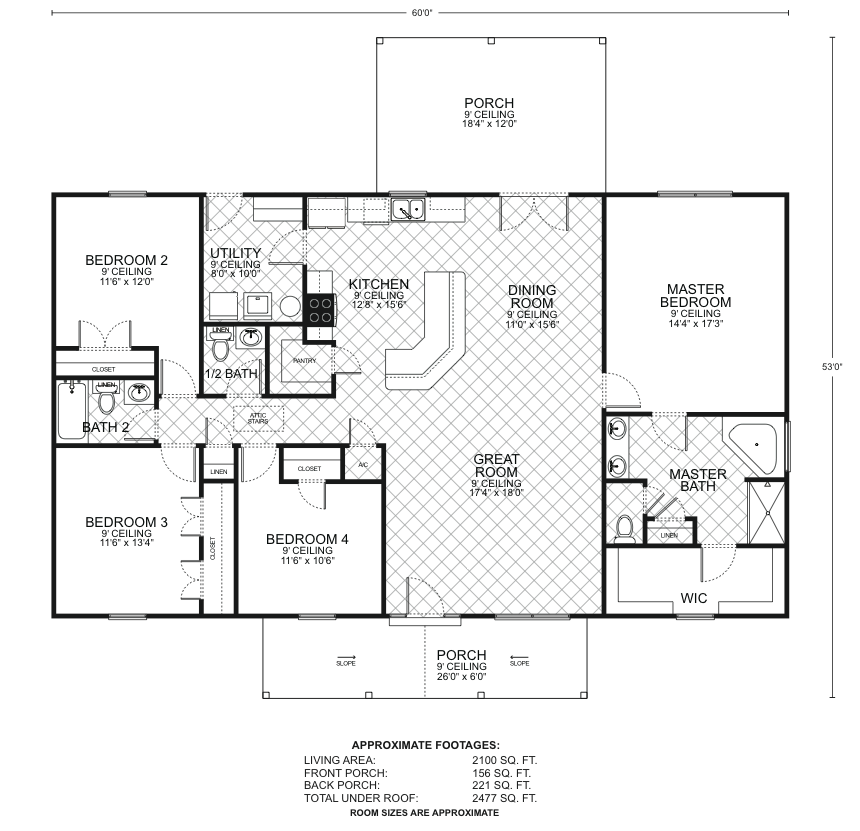 Bowie floor plans southwest homes for Southwest homes floor plans
