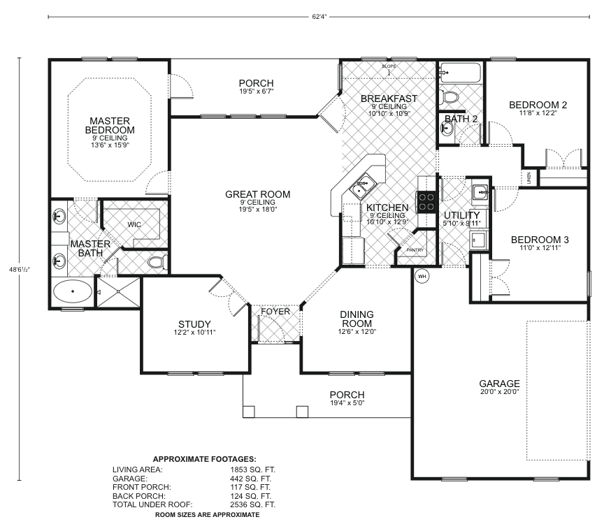 Driftwood a floor plans southwest homes for Southwest home floor plans