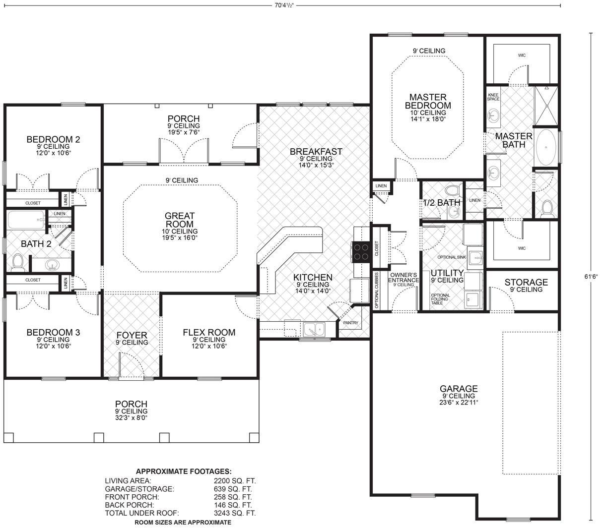 Homes Hillcrest Floor Plan 28 Images Ranch House Plans