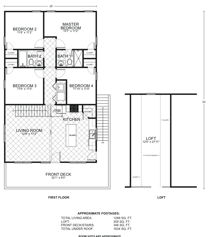 Edgewater b o p floor plans southwest homes for Edgewater house plan