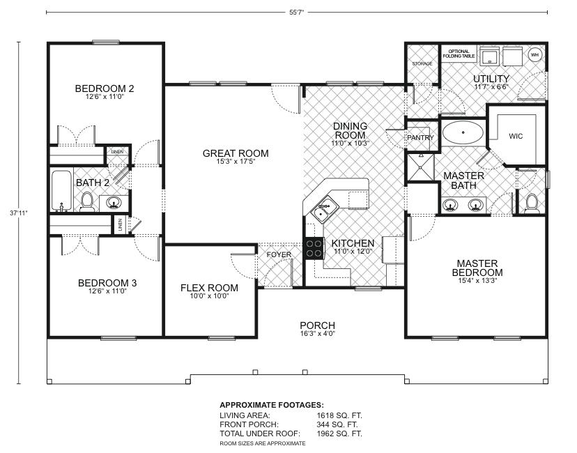 Durango B Floor Plans Southwest Homes