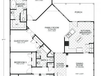Guadalupe floor plans southwest homes for Southwest homes floor plans